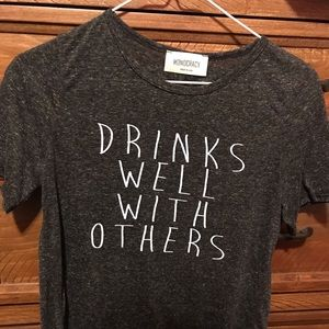 Tops - Drinks Well With Others T-shirt